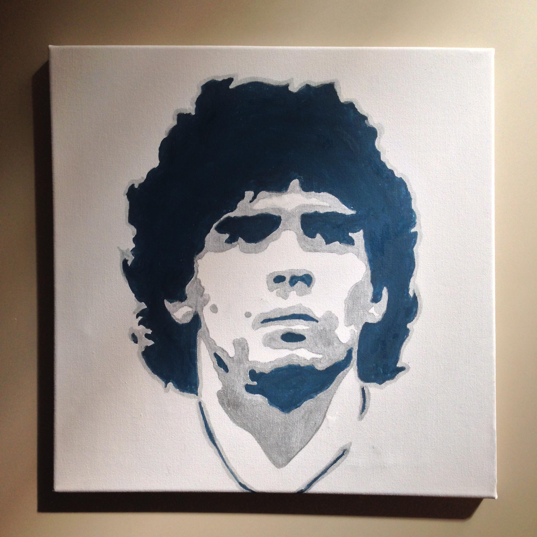 Maradona su tela