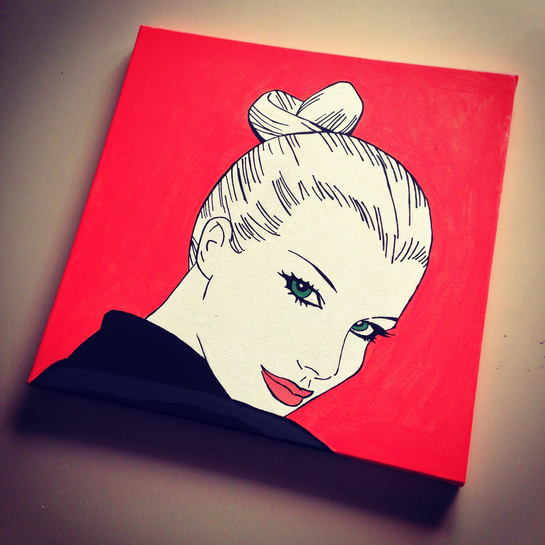 Quadro Eva Kant in stile pop art