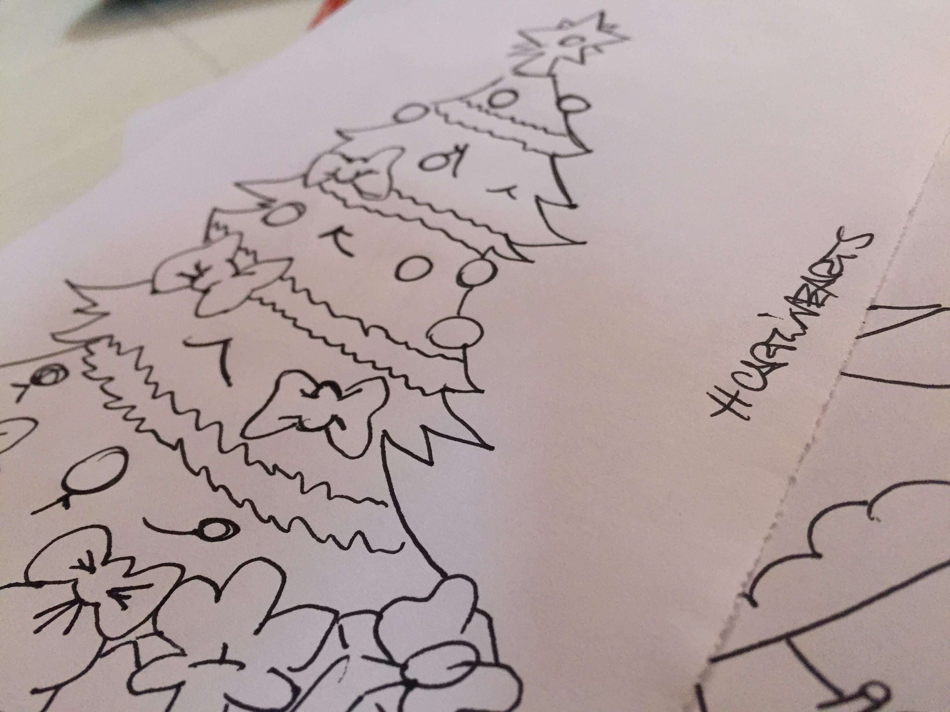 Disegni albero di natale da colorare carminearts for Immagini natalizie da colorare