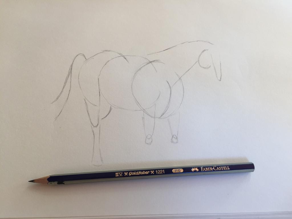 come disegnare un cavallo fase 3