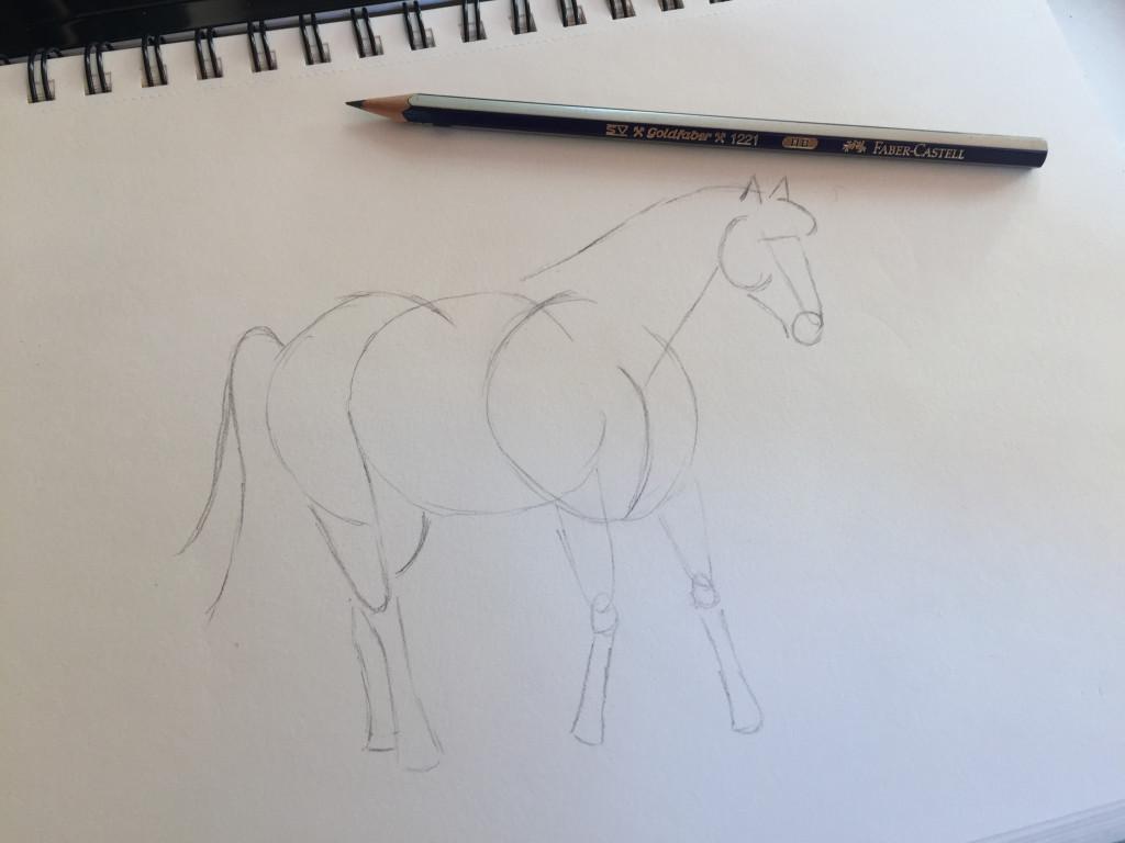 come disegnare un cavallo fase 4
