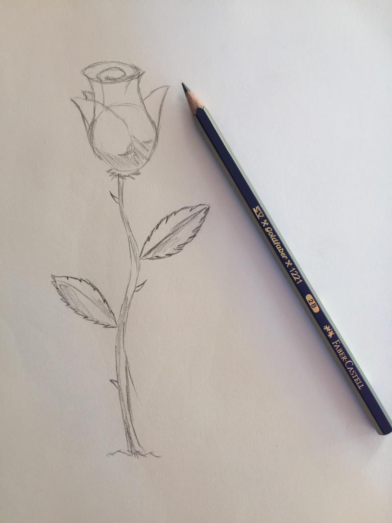 come disegnare una rosa fase 4