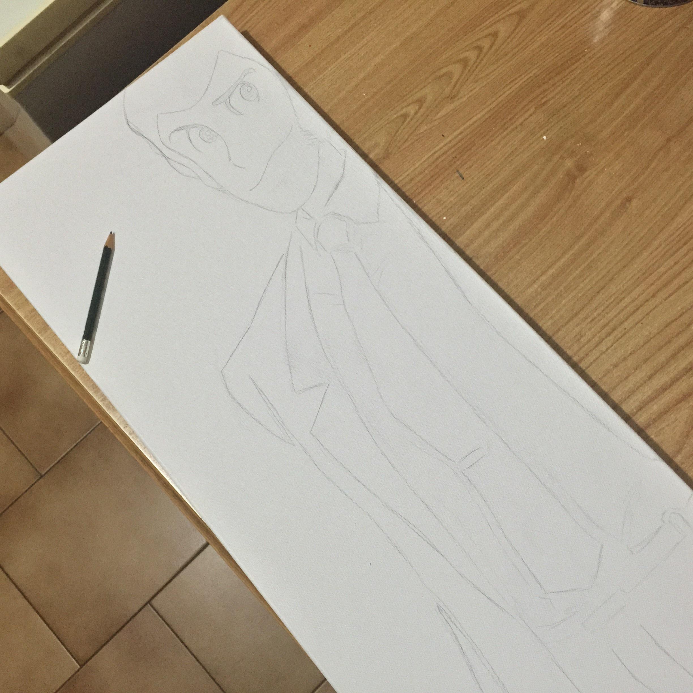 quadro di lupin terminato il disegno