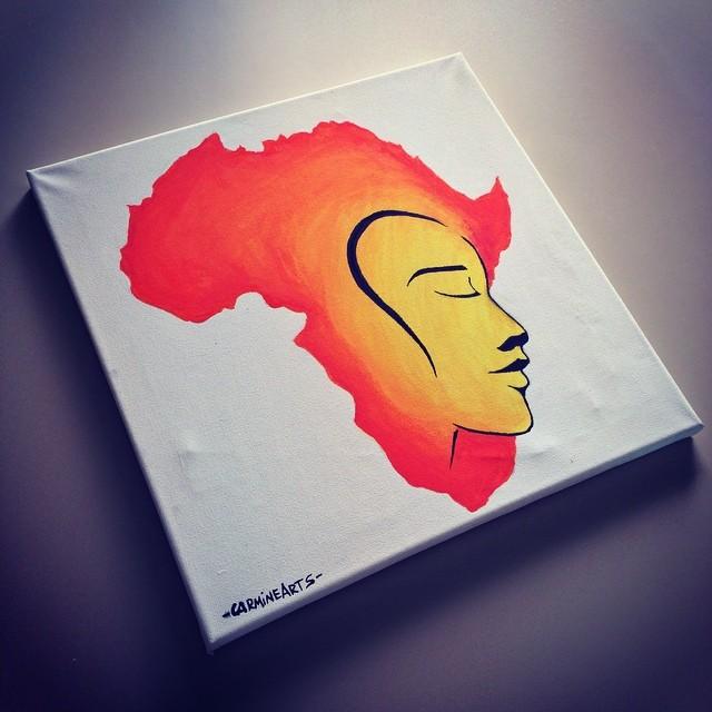quadro africa faccia