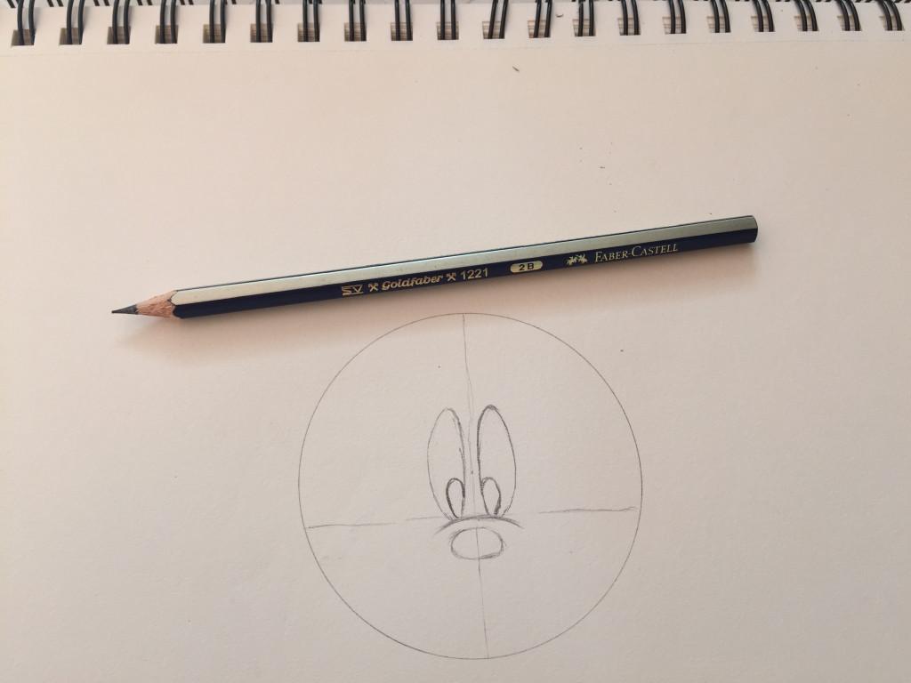 Come disegnare Topolino fase 3