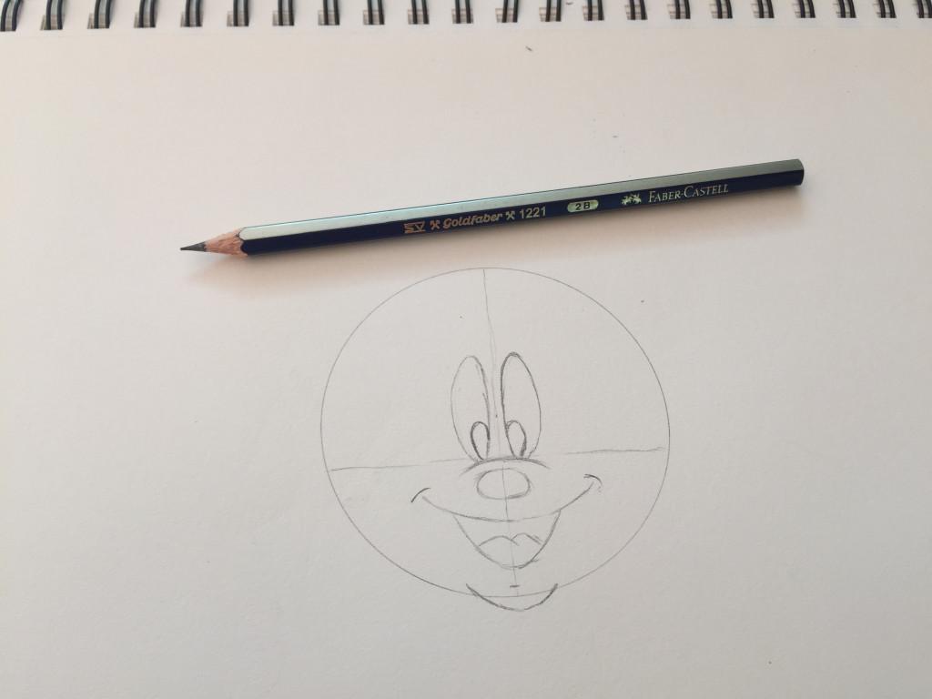 Come disegnare Topolino fase 4