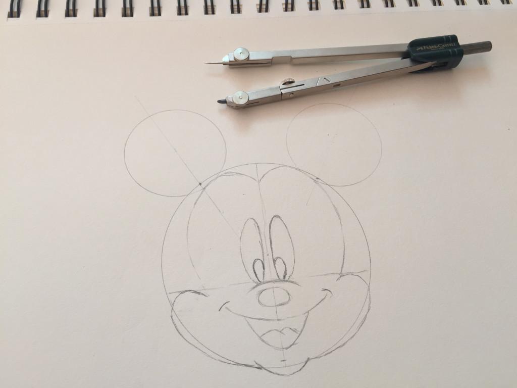 come disegnare topolino fase 7