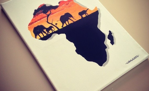 Quadro Africa su tela