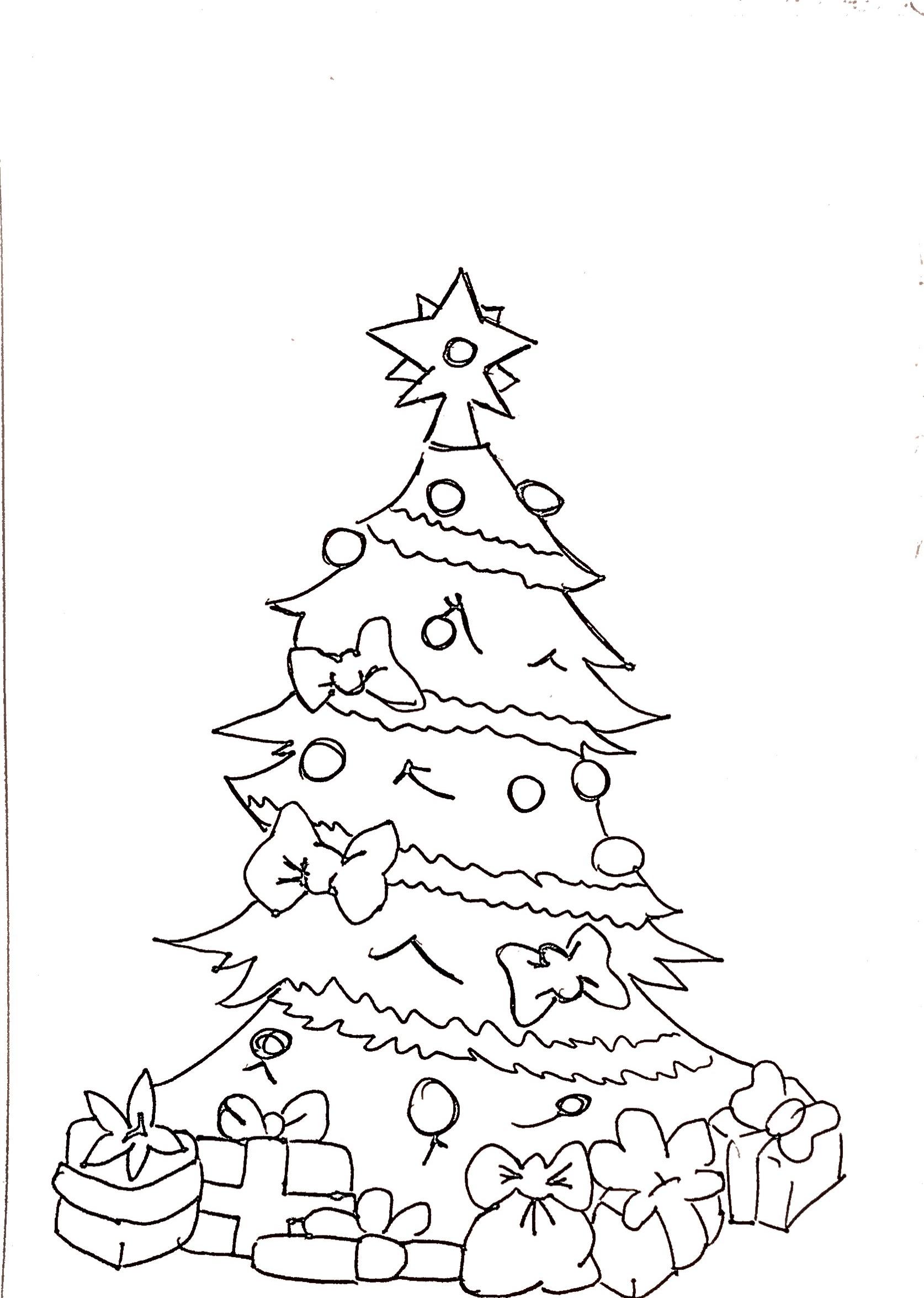 Disegni Albero Di Natale Da Colorare Carminearts