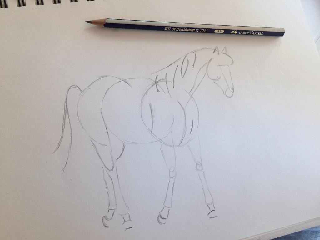 come disegnare un cavallo fase 5