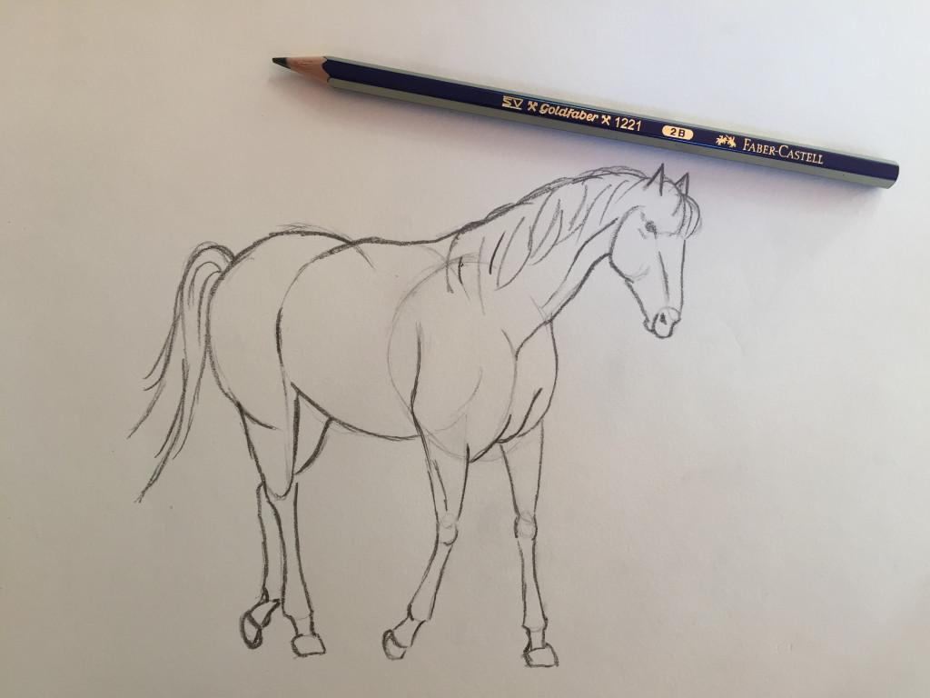 come disegnare un cavallo fase 6