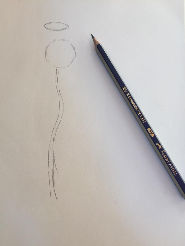come disegnare una rosa fase 1