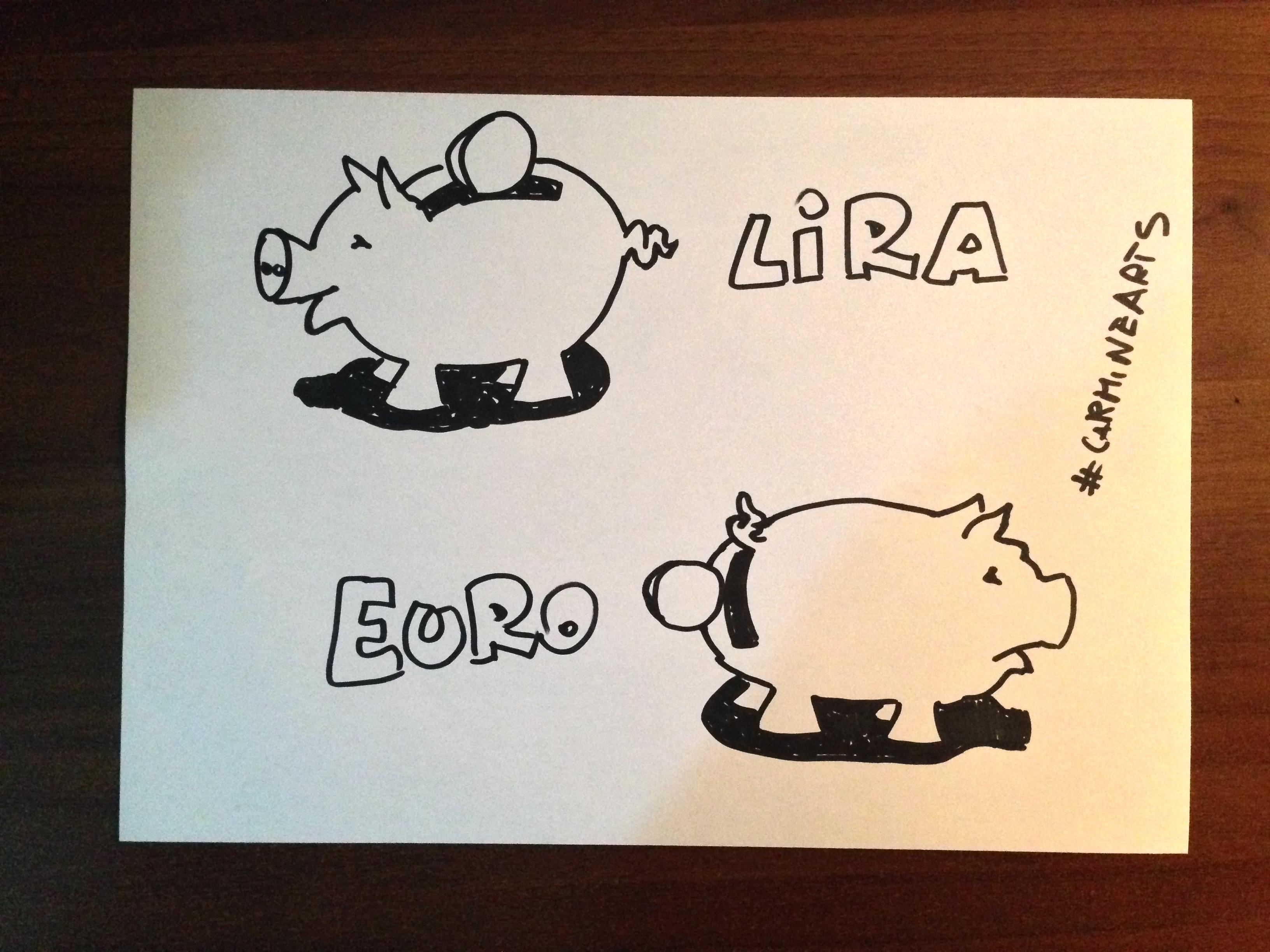 """La differenza tra la """"Lira e l'Euro"""""""