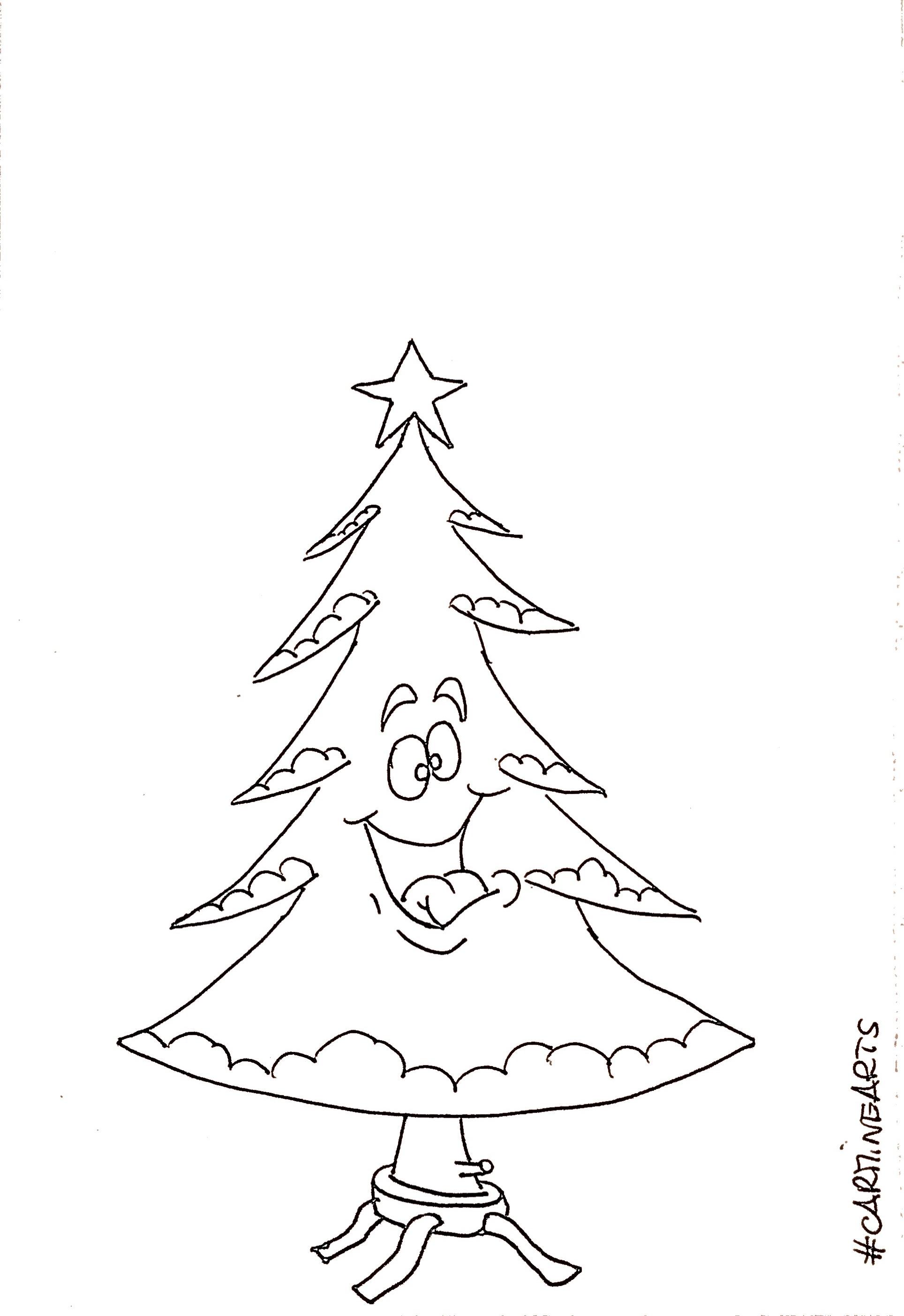 Disegni albero di natale da colorare carminearts for Disegni facili di natale