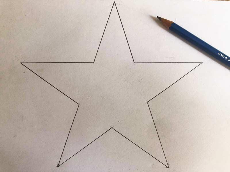 Come disegnare una stella perfetta a 5 punte