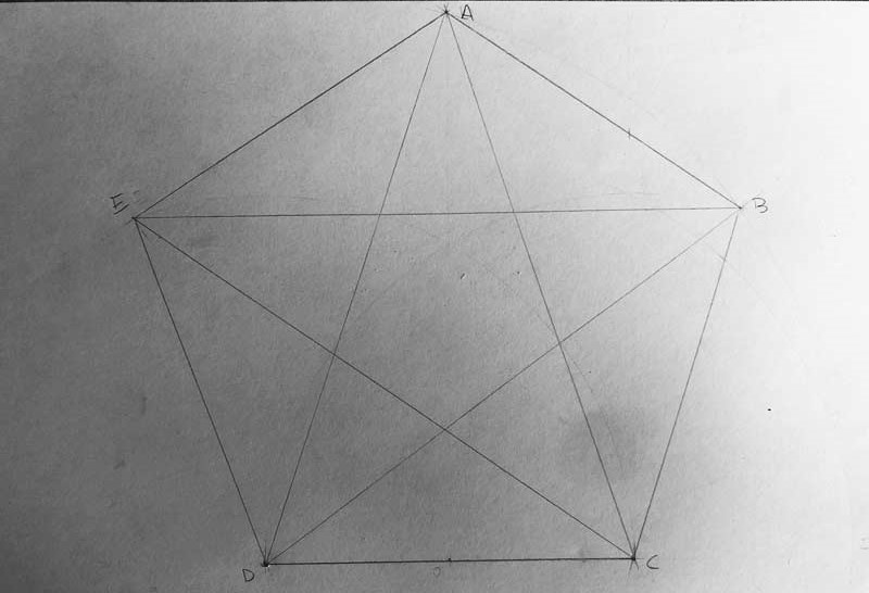 come disegnare una stella a 5 punte con un pentagono